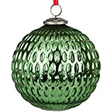 EarthenMetal Handcrafted Green Coloured Christmas Glass Decoratives / Hanging Ball-6 Inch