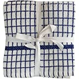 "Lushomes Blue Set Of 2 Terry Kitchen Towels (Size: 20""x20"")"