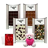 Bond Of Love Of Yummy Chocolates Bars With Teddy And Love Card