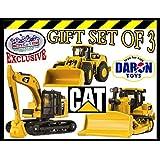 Daron CAT (Caterpillar) Metal Machines Bulldozer, Wheel Loader & Excavator Vehicles Trucks Deluxe Gi