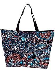 Snoogg Abstract Seamless Texture With Fish Waterproof Bag Made Of High Strength Nylon - B01I1KJ9J8