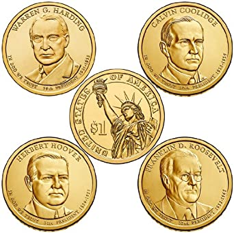 2014 P Presidential Dollar 4-Coin P Mint Uncirculated at