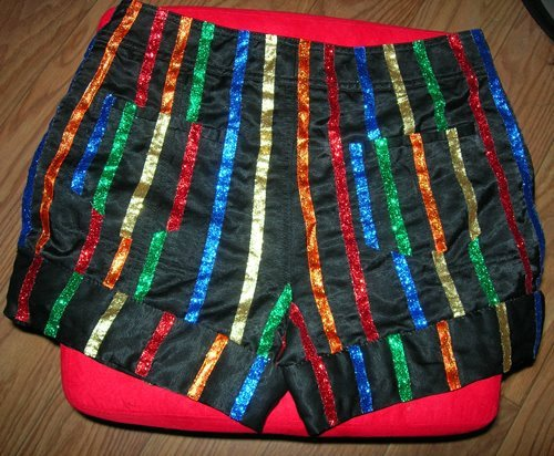 Columbia Shorts Glitter Ribbon Rocky Horror Picture Show Costume