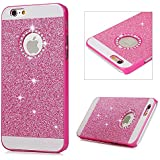 Re-case Pink Luxury Bling Glitter Hard Back Case Cover For Apple IPhone 5 5S / IPhone SE