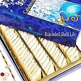 Rakhi Gifts Sweets-Ghasitarams Pure Kaju Katlis Box 200 Gms