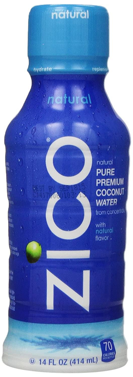 ZICO Pure Premium Coconut Water, Natural, 14 Ounce Bottles (Pack of 12)