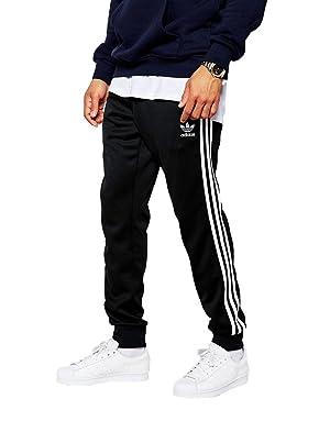 adidas Originals Superstar Cuffed Track Pants Black パンツ 黒 [並行輸入品]