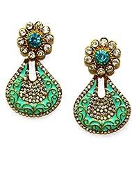 La Trendz Golden Alloy Hanging Earrings - B01HGRPW5C