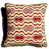 Homeblendz Cotton Printed With Cotton Back And Piping Multicolor 40x40 Cushion Cover