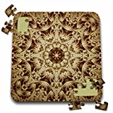 Houk Digital Abstraction Art - Fancy Kaleidoscopes - Adorable Lace Aria Kaleidoscope - 10x10 Inch Puzzle (pzl_42136_2)