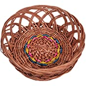KEE Wicker Basket (12 Cm X 25 Cm X 18 Cm, Brown)