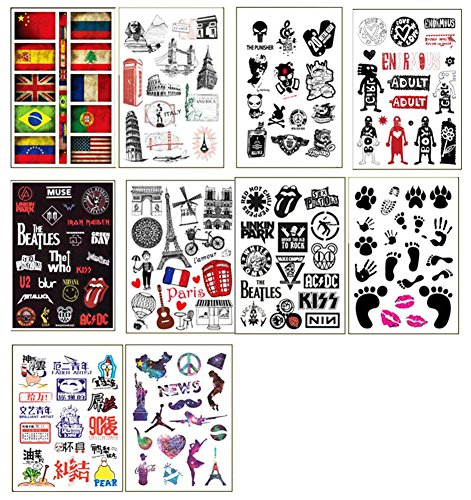 10 PCS Fixed Gear Bicycle Sticker Bikes Decorations Suitcase Sticker-B