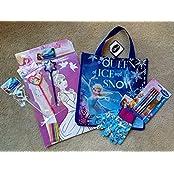 Disney Dream Tote Bag Gift Set Bundle Of Frozen & Princess Themed Items : Coloring Art Poster,Mechanical Pencils...