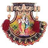 Sheela's Radha Krishna Wall Hanging ( Multicolour Color, 7.5x7.5 Inches)