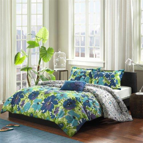 Greatest Turquoise, Blue & Purple Hawaiian Tropical Comforter Set  KB75