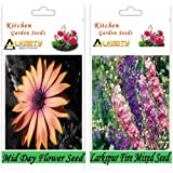 Alkarty Mid Day And Larkspur Fire Mixed Seeds Flower Pack Of 20 (Winter)