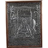 Kapasi Handicrafts Oxidise Copper Bhagat Pipaji Wall Hanging Decor Showpieces (25 Cm X 2.5 Cm X 33 Cm, Silver)