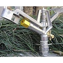 "Generic White : 1"" DN25 Zinc Alloy Adjustable Rocker Nozzle Adjustable Angle Garden Sprinklers"
