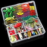 Generic 131pcs Almighty Fishing Lures Kit With Mixed Hard Lures And Soft Baits Lures Minnow Crank Popper Sequins...