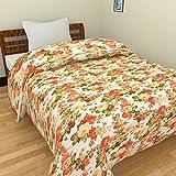 SS SALES Microfiber Red Multi Flower Print Double Bed Dohar/AC Blanket