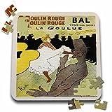 BLN Vintage Les Maitres de l Affiche Poster - Vintage Moulin Rouge La Goulue French Advertising Poster - 10x10 Inch Puzzle (pzl_149481_2)