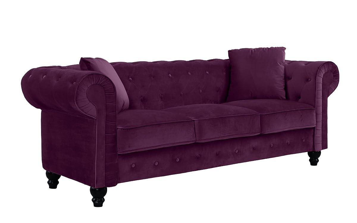 Divano Roma Purple Sofa Baci Living Room