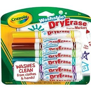 Amazon.com: Crayola 12 Ct Washable Dry Erase Markers: Toys