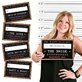 Girls Night Out Party Mug Shots - Bachelorette Party Photo Booth Props Kit - 20 Count