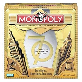 Click to order monopoly game 70th anniversary edition from Amazon!