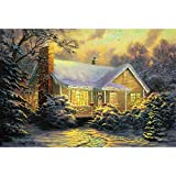 Mutong Toys Adult 1000-piece Puzzle Ink Painting Style Wooden Jigsaw Puzzles ST012-Warm Home