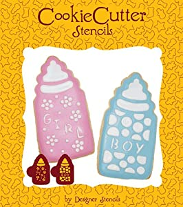 Amazon.com: Baby Bottles Cookie Stencil Set (no cutter) by ...
