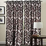 "Hargunz Eyelet Mesmerising Polyester Door Curtains - 84""x48"", Pack of 2 Curtain, Brown (KS039-2-2)"