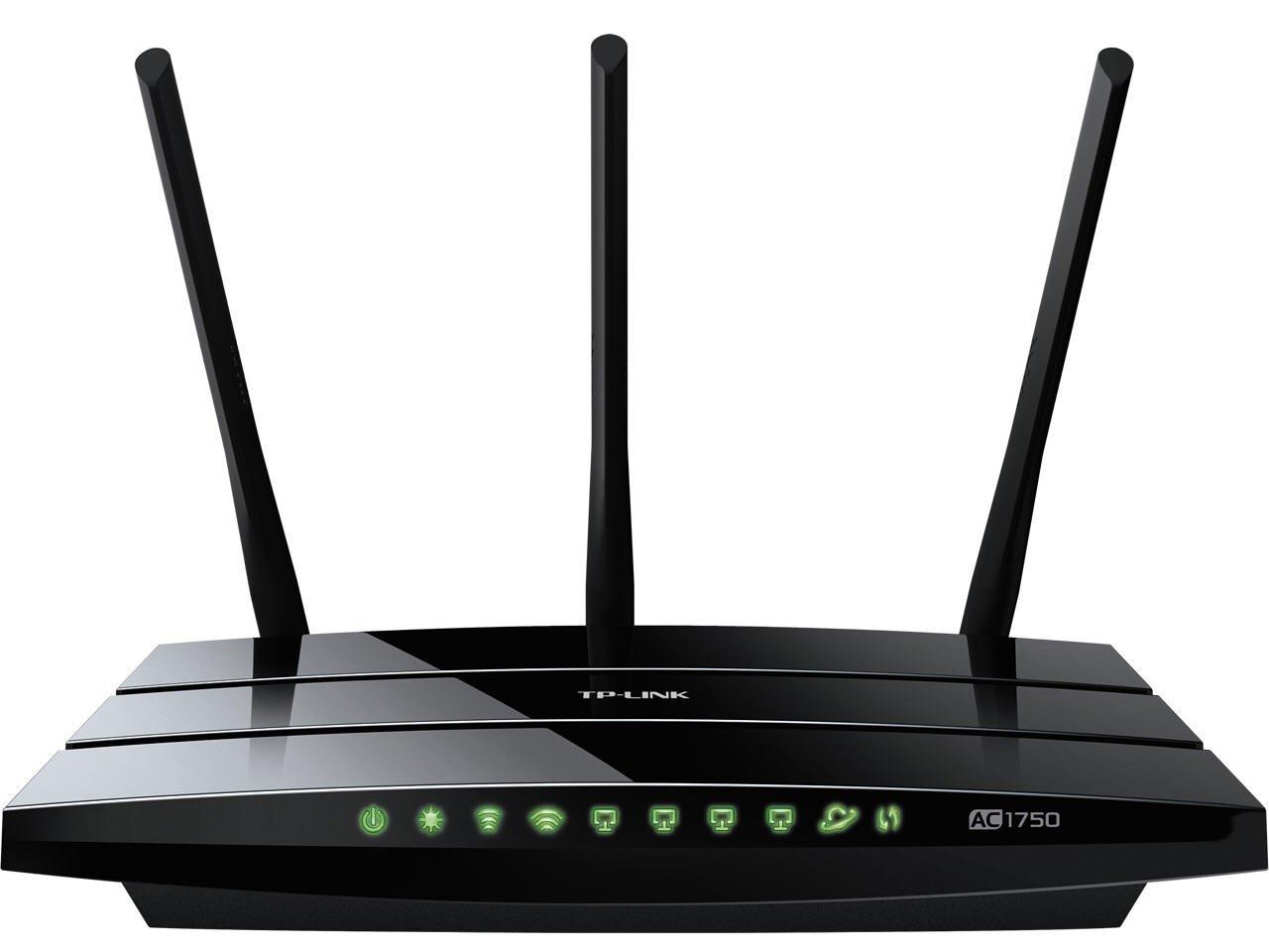 TP-LINK Archer C7 AC1750 Dual Band Wireless AC Gigabit Router, 2.4GHz 450Mbps+5Ghz 1300Mbps, 2 USB Port, IPv6, Guest Network