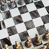 3D Roman Gladiator Pewter Chess Set