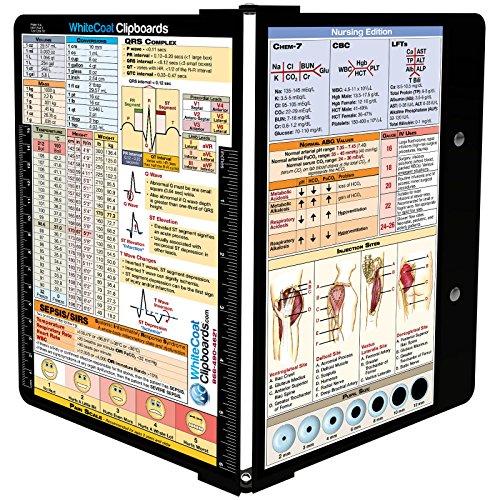WhiteCoat Clipboard- Black - Nursing Edition