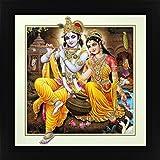 Avercart Lord Krishna / Shri Krishna With Radha / Symbol Of Divine Love / Sri Radha-Krishna Poster 12x12 Inch...
