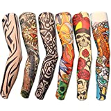 AlexaIndia- Combo Of 2 Pair Pack Superb Stylish Tatoo Compression Arm Sleeves For Men
