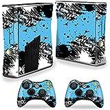 Protective Vinyl Skin Decal Cover For Microsoft Xbox 360 S Slim + 2 Controller Skins Sticker Skins Hip Splatter