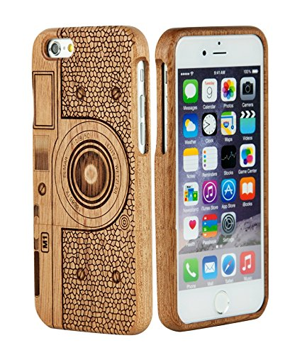 amazon com iphone eimo tm cover rigida in legno naturale di bamb 249 6142