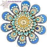 Ghasitaram Gifts Diwali Gifts Blue And Gold Flower Floating Light Diya With 200 Gms Kaju Katli