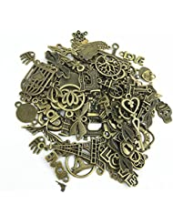 Y&Y Star Mixed Charms Pendants 100 Gram Assorted DIY Antique Charms Pendant Mega Mix For Crafting,Bracelet Necklace...