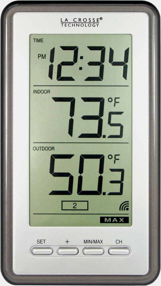 Digital Thermometer Temperature Wireless Remote W/ Clock Indoor / Outdoor  Sensor 742657180239 | EBay
