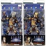 AVP Aliens vs. Predator: Requiem Series 2 Action Figures Set of 2 (Masked & Unmasked P...