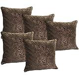 Idrape Velvet 5 Piece Cushion Cover Set- Beige, 40 Cm X 40 Cm - B013UCPMBG