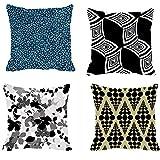 4pc -meSleep Abstract Digitally Printed Cushion Cover (16x16) - B00VNX9XZG