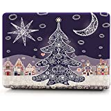 HRH Happy Holiday XMAS Christmas Tree Design Laptop Body Shell Protective Rubberized Hard Case For Apple Macbook...