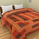Bagru Crafts Jaipuri Pure Cotton Double Bed Razai (Quilt)