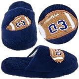 Navy Football Slippers for Boys