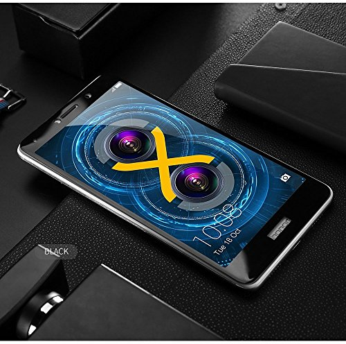 Kavacha (TM) Honor 6x Edge To Edge Full Front Body Cover Tempered Full Glass Screen Protector Guard For Huawei Honor 6X - Black