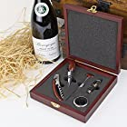 Wineophile Wood Wine Accessory Kit